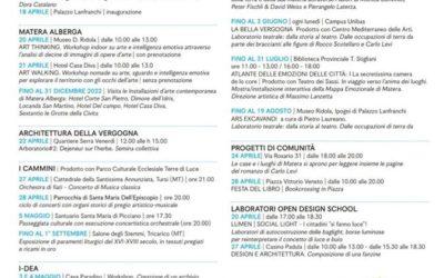 Gli eventi da non perdere a Matera fino al 5 maggio 2019